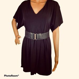 Love tease belted black dress small